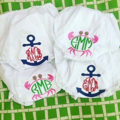 Bloomers with monogram and graphic