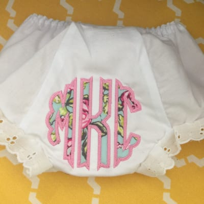 Applique Bloomers with monogram and graphic